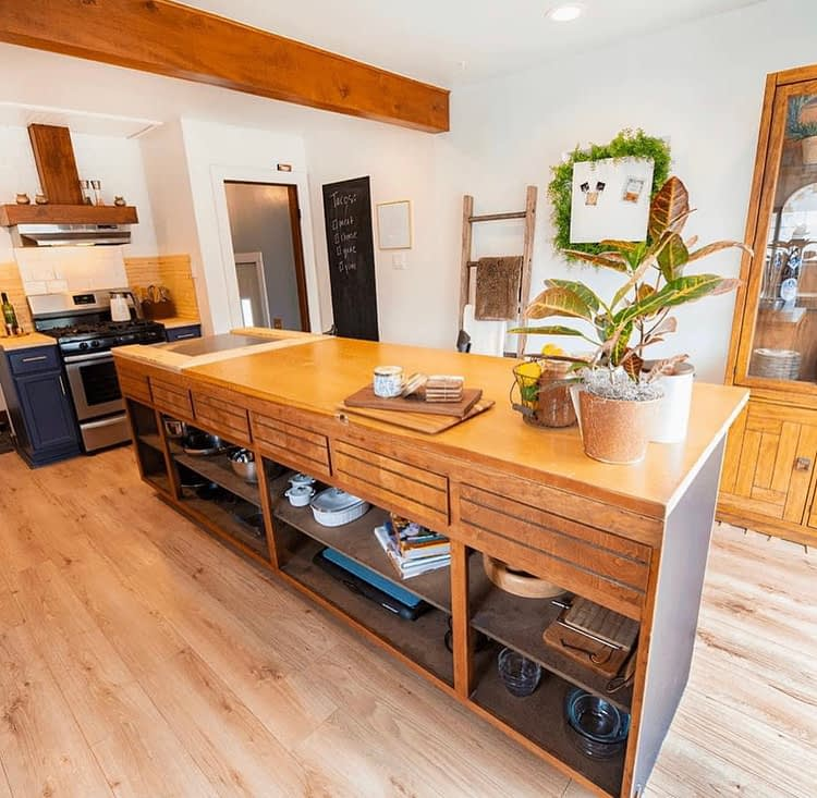 After photo of kitchen renovation at Little River House