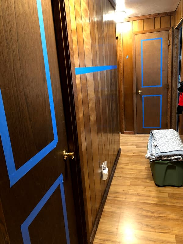 Before: DIY Hallway Wainscoting Project