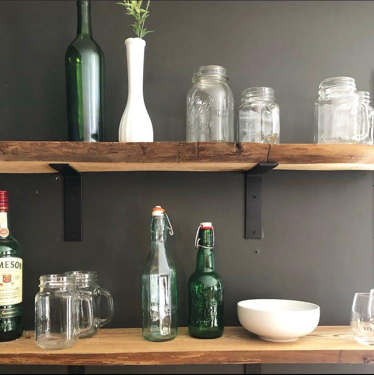 Kitchen Vignette: Floating Shelves at Camp Miller