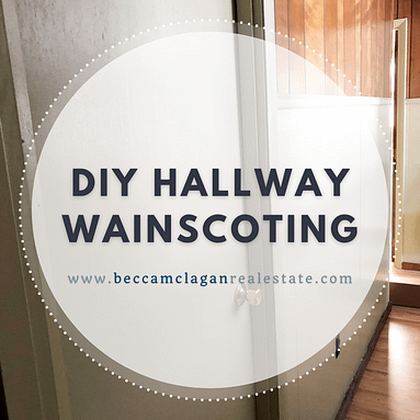 The DIY Hallway Wainscoting Project