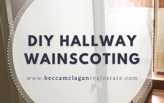 New on the Blog: DIY Hallway Wainscoting